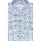 Elegancka biała koszula profuomo sky blue w granatowy roślinny wzór 42