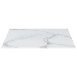 Vidaxl blat stołu, biały prostokąt 120x62 cm, szkło z teksturą marmuru