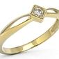 Pierścionek z żółtego złota z brylantem bp-6406z - 0.06 ct