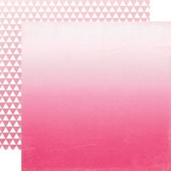 Ozdobny papier 30,5x30,5 cm - Hot Pink Ombre - 02