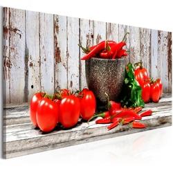 Obraz - czerwone warzywa 1-częściowy drewno wąski