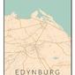 Edynburg mapa kolorowa - plakat wymiar do wyboru: 70x100 cm