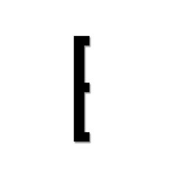Litera czarna akrylowa 8 cm Design Letters E