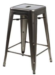 Stołek barowy paris 66cm inspirowany tolix - metaliczny || czarny