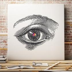 Design eye - designerski obraz na płótnie , wymiary - 100cm x 100cm