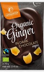 Landgarten | kandyzowany imbir w gorzkiej czekoladzie | gluten free - organic - fairtrade