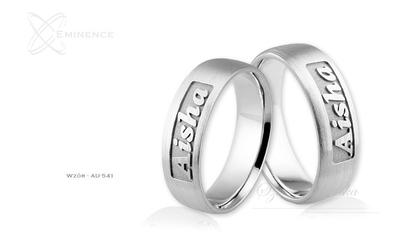 Obrączki ślubne - wzór au-541