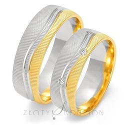 Obrączki ślubne złoty skorpion – wzór au-oe218