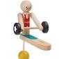 Drewniany akrobata podnoszenie ciężarów