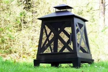 Palenisko ogrodowe, kominek metalowy do ogrodu, na taras