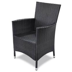 Zestaw ogrodowy stół + krzesła 4 osoby lida czarny