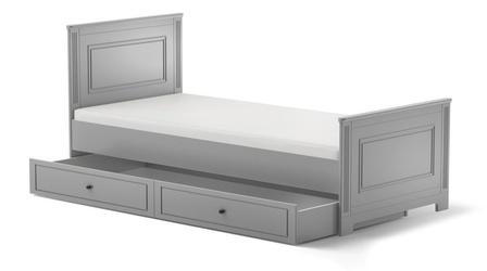 Bellamy ines natural grey łóżko 90x200 z szufladą