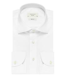 Biała klasyczna koszula męska regular fit, na guziki 45