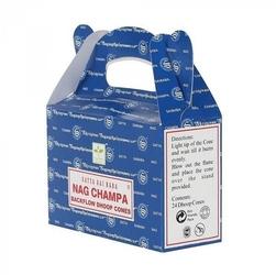Nag champa - kadzidełka stożkowe satya backflow op.24 szt