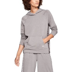 Bluza damska under armour featherweight fleece hoody - brązowy