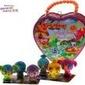 Figurki zoobles 3 szt w skarbonce serduszko