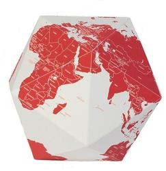 Dekoracja here the personal globe czerwona m