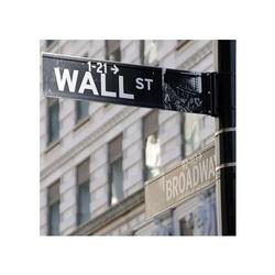 Wall street ecke broadway ny - reprodukcja