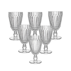 Szklanki do wody i napojów na stópce altom design venus 285 ml, komplet 6 szklanek