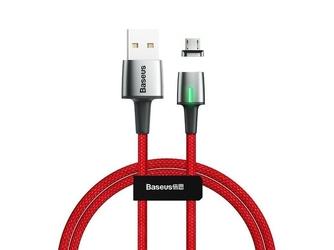 Kabel magnetyczny baseus zinc micro usb 2m 1.5a red - czerwony