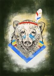 Miś indianin - plakat