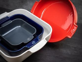 Naczynie ceramiczne, emaliowane, okrągłe 29 cm peugeot appolia czerwone pg-60251