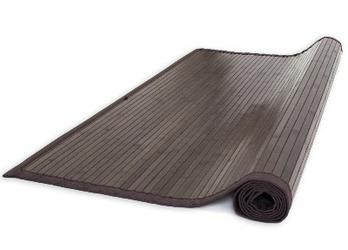 Dywanik bambusowy, mata ciemnobrązowa 60x300 cm