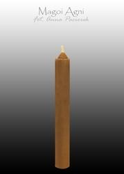 Świeca z wosku 9x1,2cm - brązowa 5 sztuk