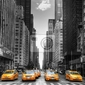Obraz avenue avec des taksówki w nowym jorku.