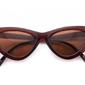 Kocie oczy przeciwsłoneczne damskie brązowe f-291a
