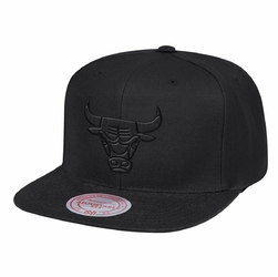 Czapka Mitchell  Ness NBA Chicago Bulls Black On Black Snapback