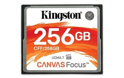 Kingston Karta pamięci CompactFlash Canvas Focus 256GB 150R130W UDMA7 VPG-65
