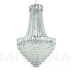 Louis philipel lampa wisząca 11 chrom kryształ