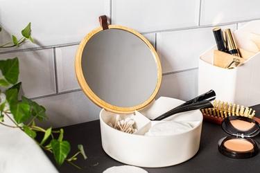 Puzderko  pojemnik do przechowywania łazienkowy z lusterkiem altom design