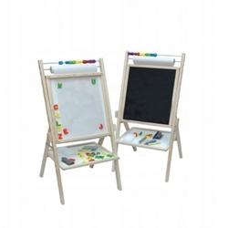 Obrotowa tablica magnetyczna 4w1 papier dla dzieci