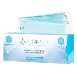 All4med torebki do sterylizacji  w  autoklawie 100mm x 230 mm 200szt