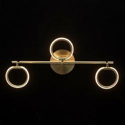 Złota lampa sufitowa trzy okręgi led demarkt techno 704024903