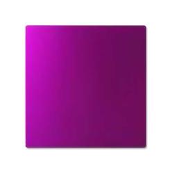 Purpurowa płytka tesli - duża 21 x 21 cm energetyzator dom żywność