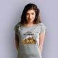 Szczyty zdobywają wytrwali t-shirt damski jasny melanż l