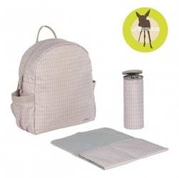 Lassig marv plecak z akcesoriami backpack mesh beige