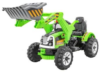 Traktorek na akumulator js238 zielona koparka z ruchomą łyżką