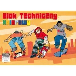 Blok techniczny kolorowy A4 - 10 arkuszy