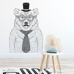 Naklejka na ścianę - big bear , wymiary naklejki - szer. 100cm x wys. 150cm