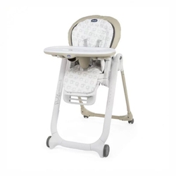 Chicco polly progres5 beige 4 koła krzesełko + pałąk z zabawkami