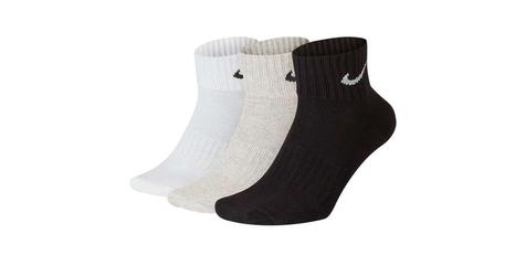Skarpety nike do kostki 3 pary multi kolor sx4926-901 35-38 biały, szary, czarny