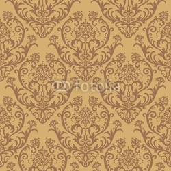 Obraz na płótnie canvas czteroczęściowy tetraptyk bez szwu brązowy kwiatowy tapety