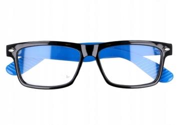 Okulary zerówki nerdy   xl-272 czarno-niebieskie