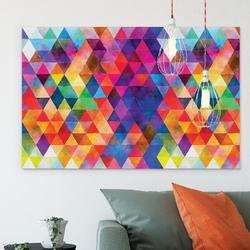 Designerski obraz na płótnie - abstract triangle-design , wymiary - 70cm x 100cm