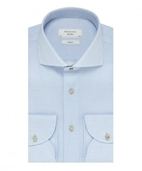 Elegancka błękitna koszula profuomo sky blue w mikrowzór 42