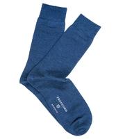 Niebieskie skarpetki męskie wełna-jedwab - dwupak 39-42